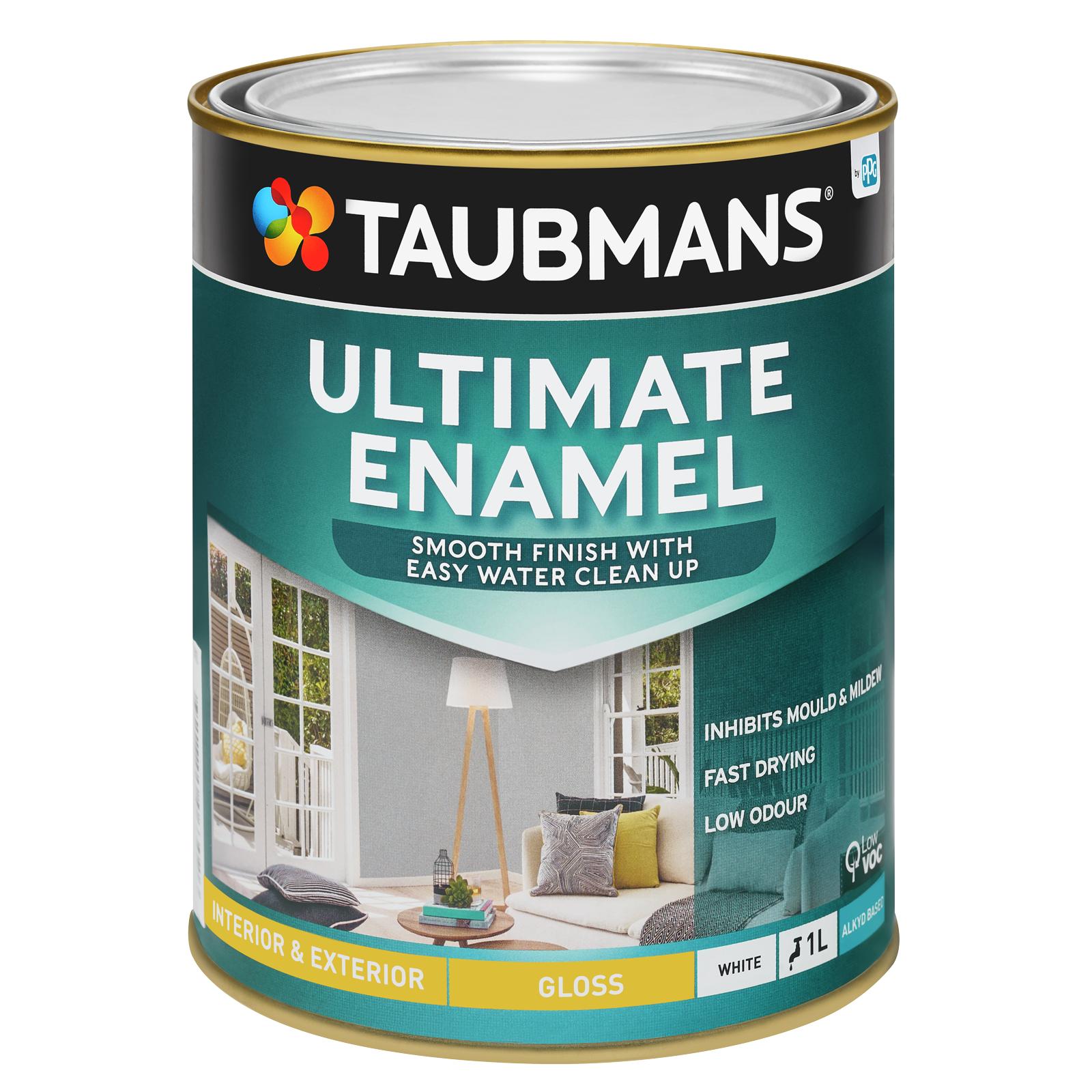 Taubmans Ultimate Enamel White Gloss Enamel - 1L