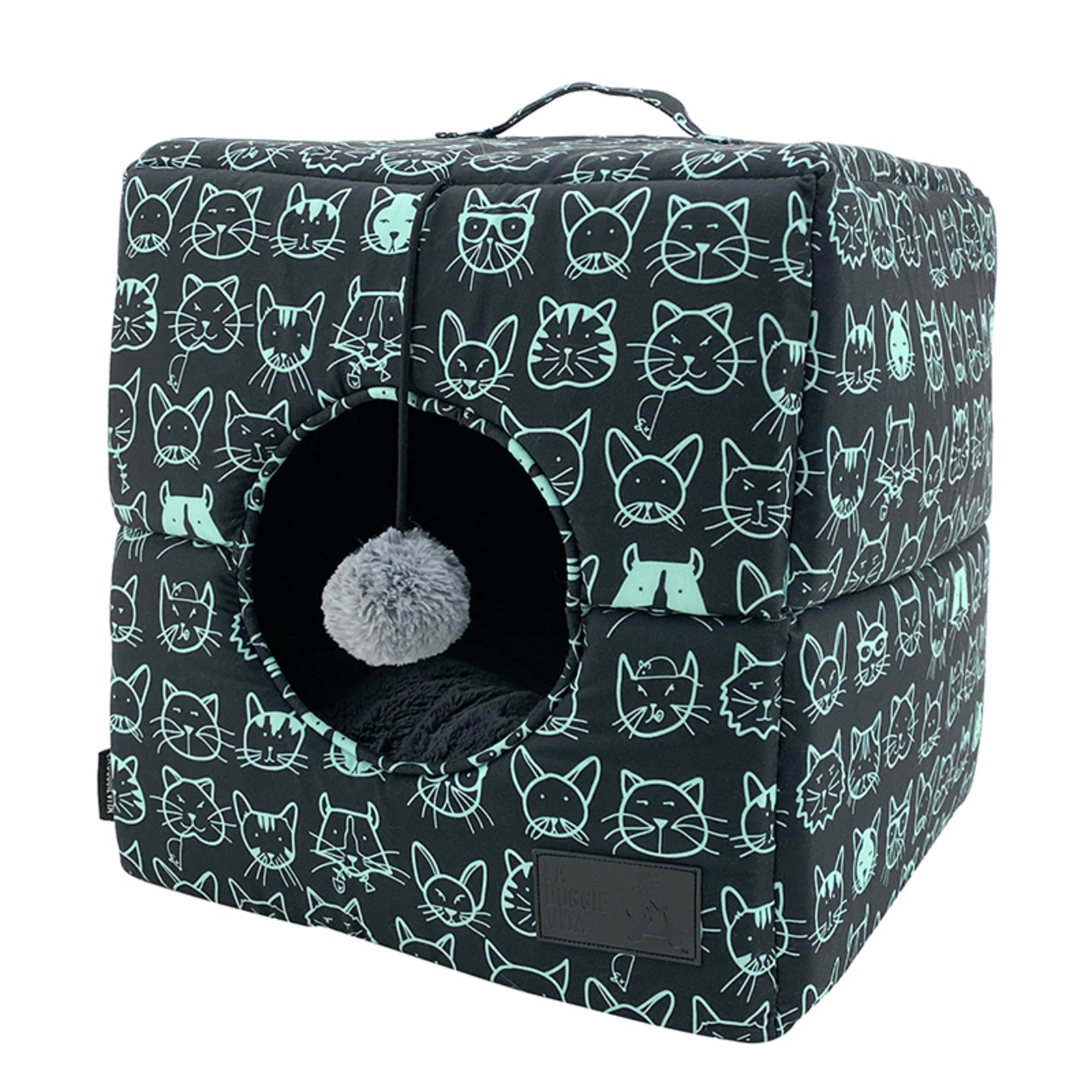 La Doggie Vita Kitty Club Black Cat Cube