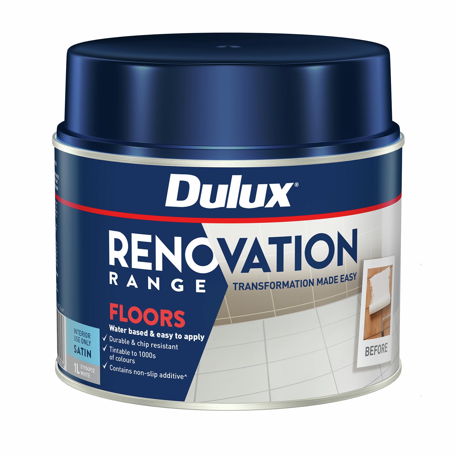 Dulux 1L Satin White Renovation Range Floors
