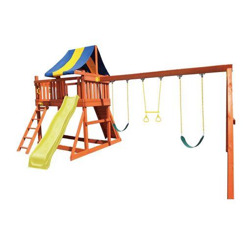 Swing Slide Climb Safari Multi Playset With 3m Slide