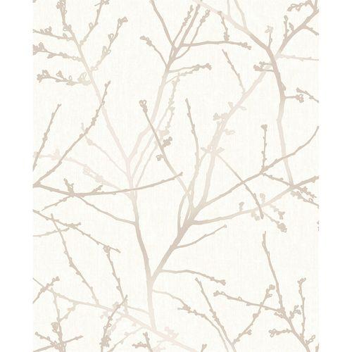 Superfresco Easy 52cm Stone / Cream Innocence Wallpaper - Stone / Cream Innocence ½m