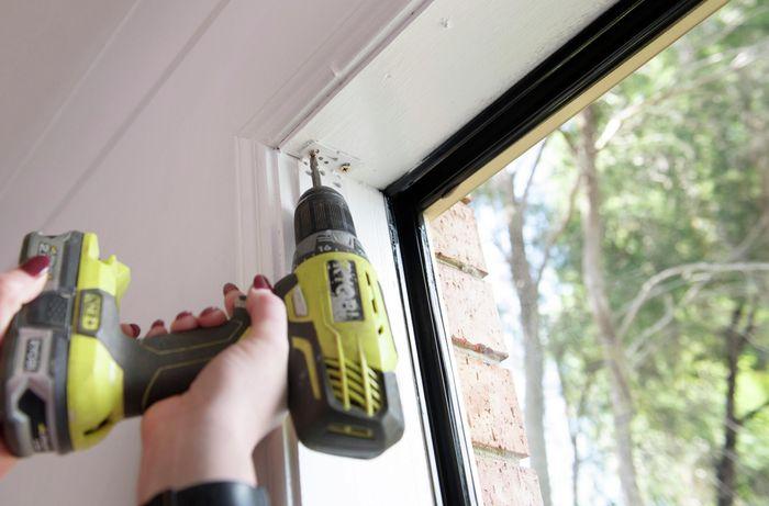 DIY Step Image - How to install roller blinds. Blob storage upload.