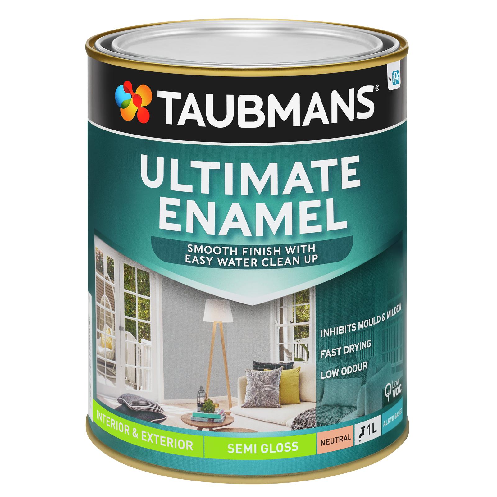 Taubmans Ultimate Enamel Neutral Semi Gloss Enamel - 1L