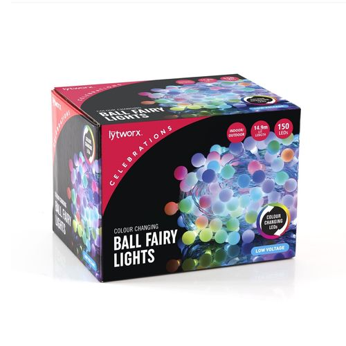 Lytworx 150 LED Colour Changing Ball Fairy Lights