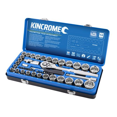 """Kincrome 51 Piece 1/2"""" Drive Metric and Imperial Socket Set"""