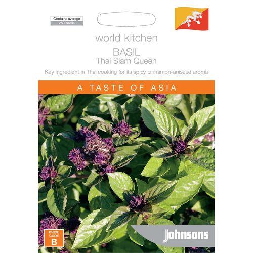 Johnsons World Kitchen Basil Thai Siam Queen Seeds