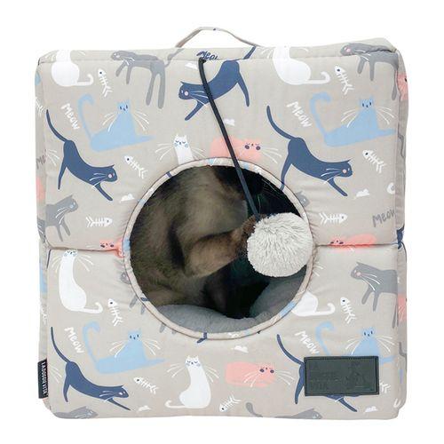 La Doggie Vita Catisse Taupe Cat Cube