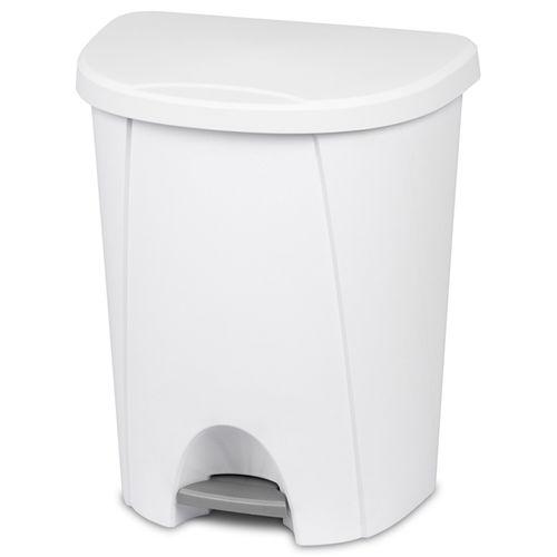 Sterilite 25L Indoor Pedal Bin - White