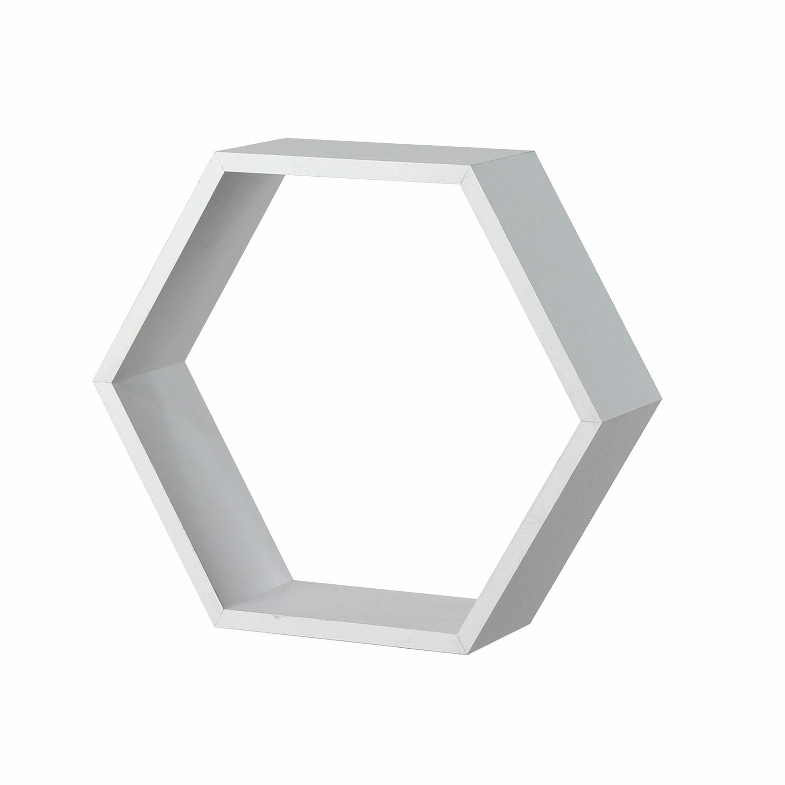 Flexi Storage White Matt Hexagonal Shelf