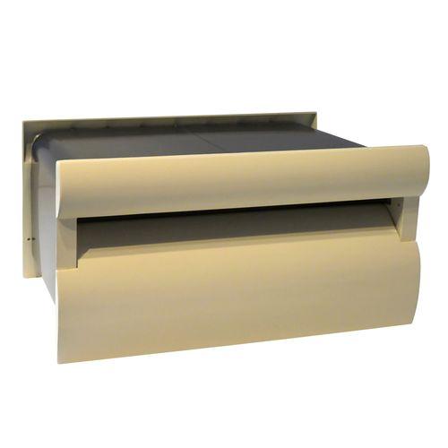 Velox Extend-A-Box Classic Cream Back Open Letterbox