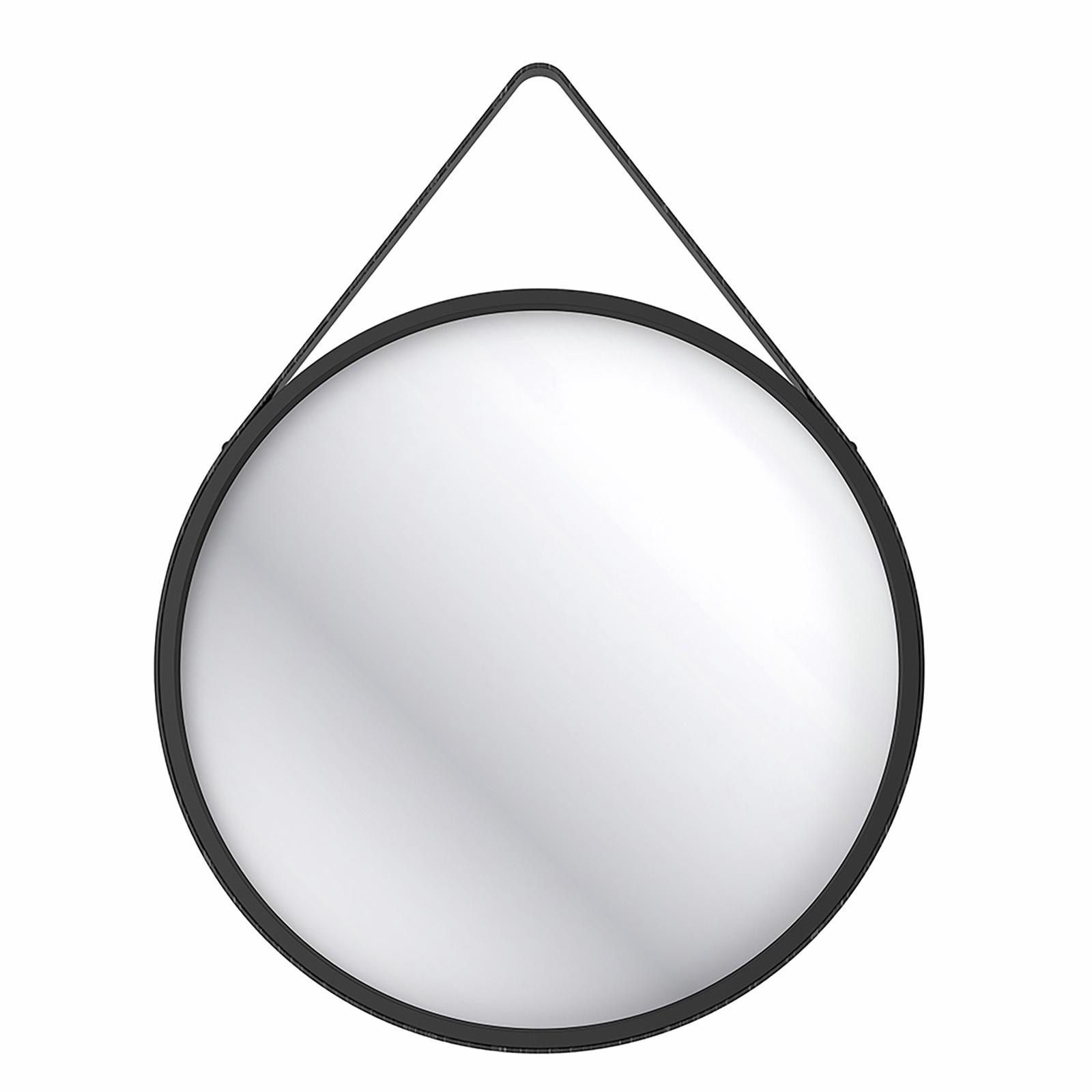 Wet by Home Design 70cm Hanging Round Mirror - Black