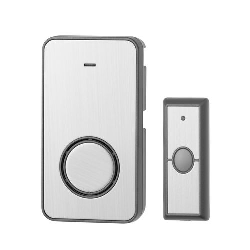 Arlec Brushed Metal Plug-in Wireless Door Chime