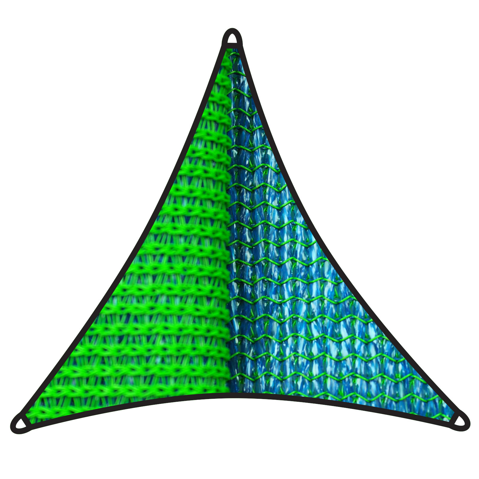 Coolaroo 5m 350gsm Topaz Triangle Dual Shade Sail