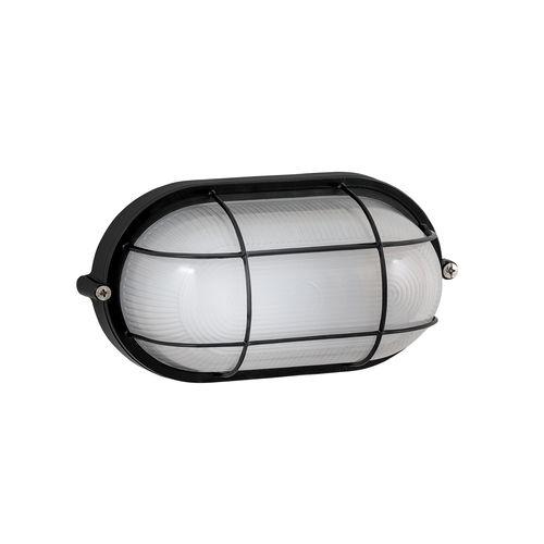Arlec Black Oval Caged Bunker Light