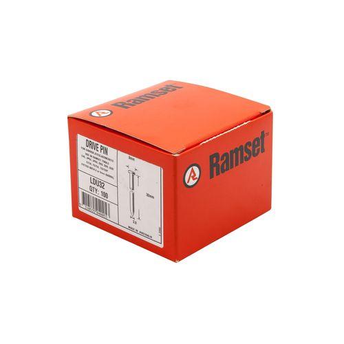 Ramset 3.8 x 32mm Nail Gun Drive Pins - 100 Pack