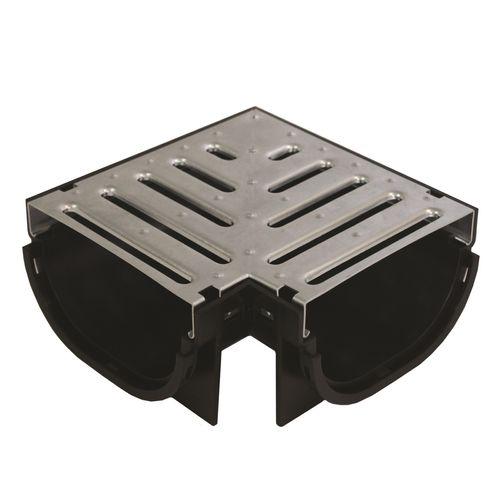 Everhard EasyDRAIN Compact Galvanised Metal Grate & Corner