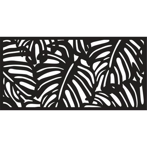 Matrix 1160 x 580mm Charcoal Monstera Wall Art
