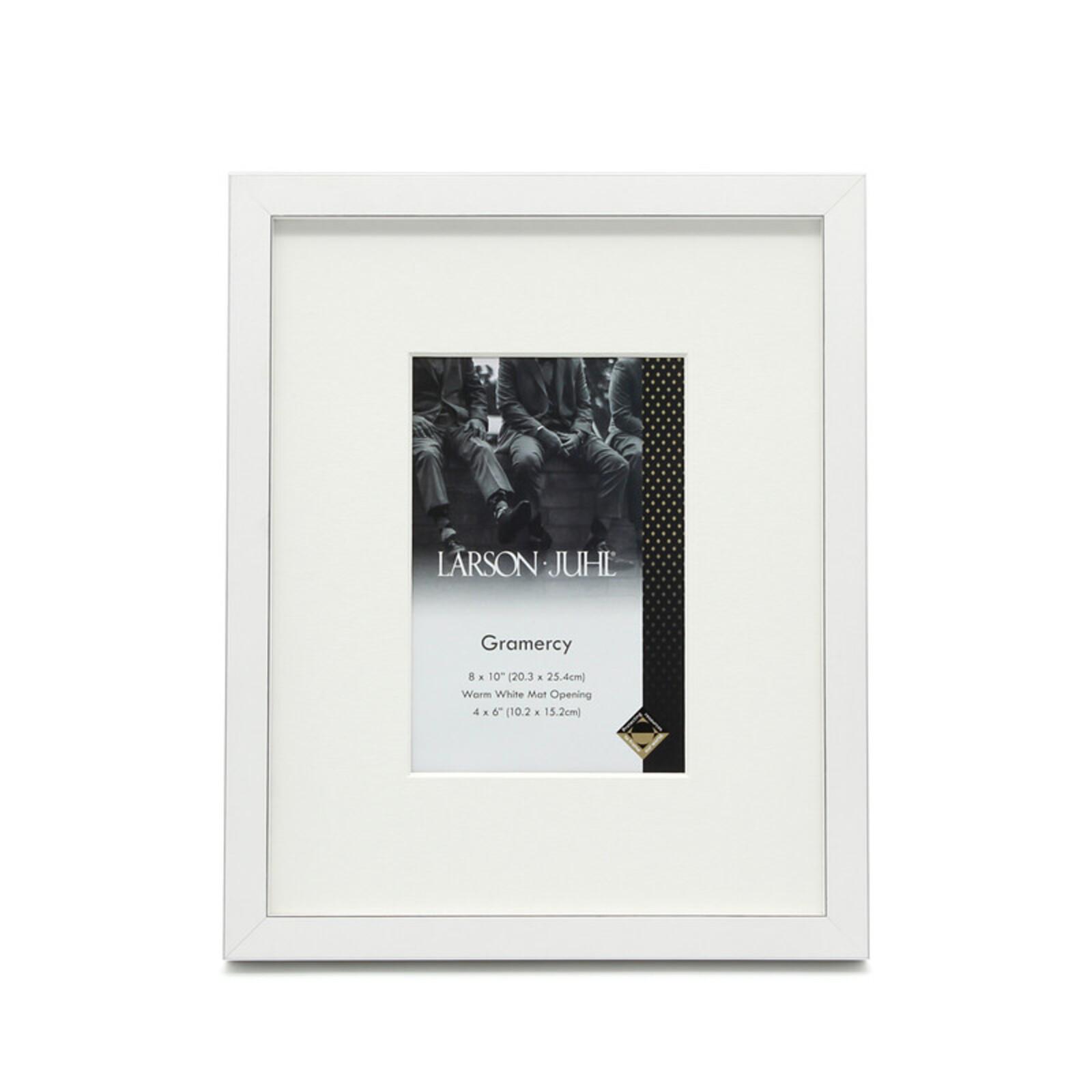 Gramercy 8 x 10inch/4 x 6inch Opening White Photo Frame