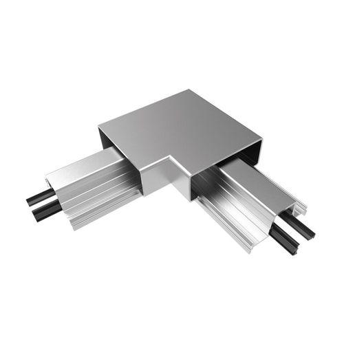 Architects Choice Silver Aluminium Rectangular Handrail Corner Set