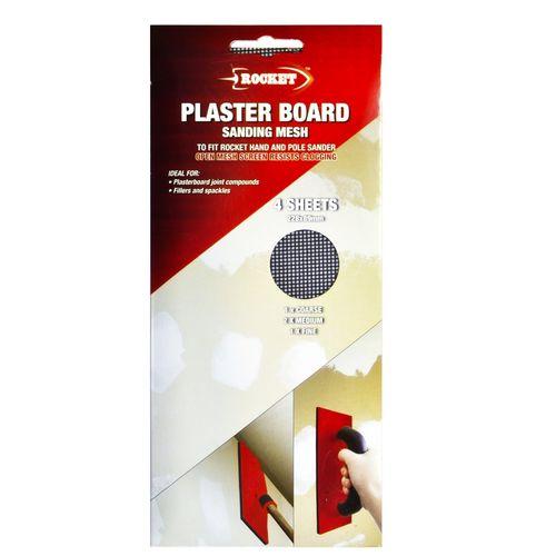 Rocket Plaster Board Sanding Mesh - 4 Pack