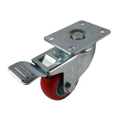 Move It 75mm 120kg Red Poly Swivel Brake Castor