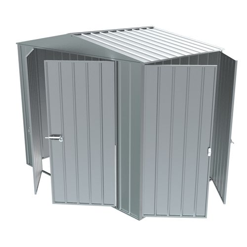 Build-a-Shed  2.3 x 1.5 x 2.3m Gable Double Hinged Side Door Shed - Zinc