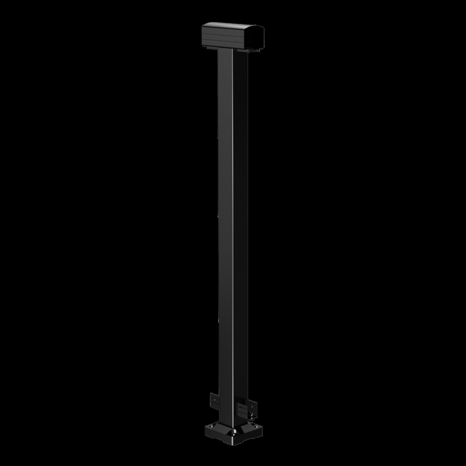 Peak Products 1000mm Black Aluminium Balustrade Mid Post