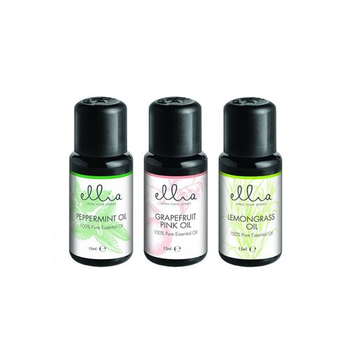 3pc Homedicsc Ellia 15ml Essential Oils/Scents Grapefruit/Peppermint/Lemongrass
