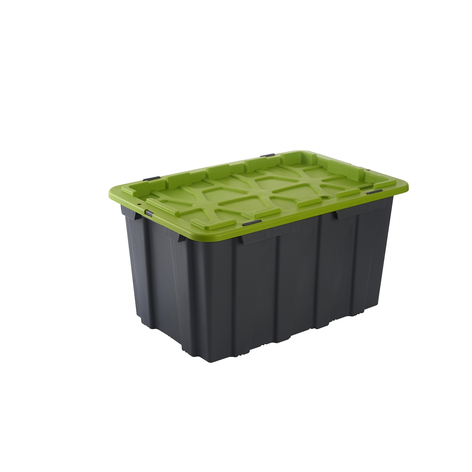 Montgomery 60L Grey And Green Heavy Duty Storage Container With Clip Lid