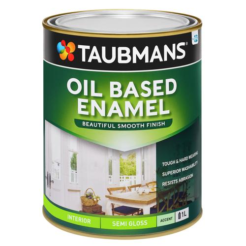 Taubmans 1L Accent Semi Gloss Oil Based Enamel