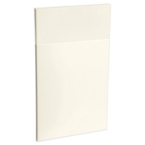Kaboodle 450mm Modern Vinyl 1 Door / 1 Drawer Panel - Antique White