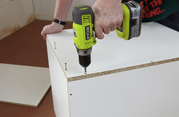 The sides being attached to a drawer cabinet