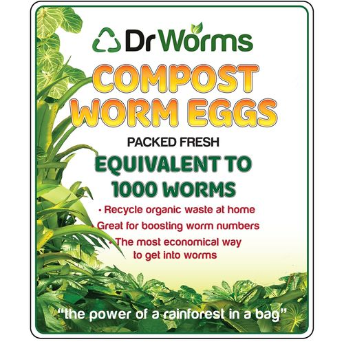 Dr Worms 1000 Compost Worm Eggs