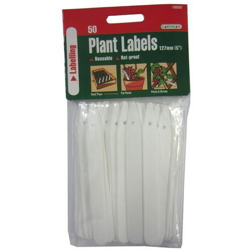 Gardman 127mm Plastic Tee Plant Label - 50 Pack