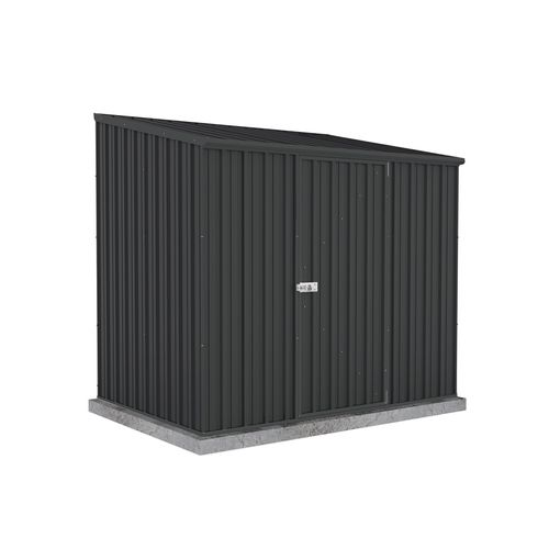 Absco Sheds 2.26 x 1.52 x 2.08m Space Saver Single Door Garden Shed - Monument