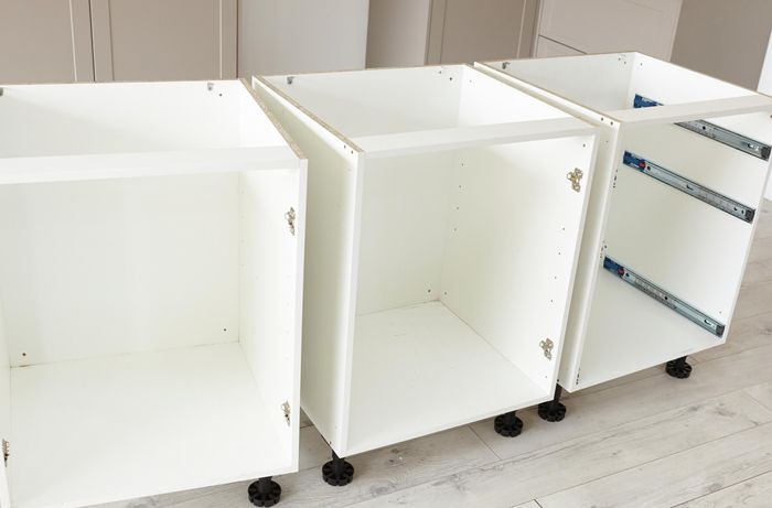 Three cabinet units side by side