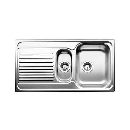 Blanco 60cm Stainless Steel Cab 1 and 1/4 Left Hand Bowl Sink Pack