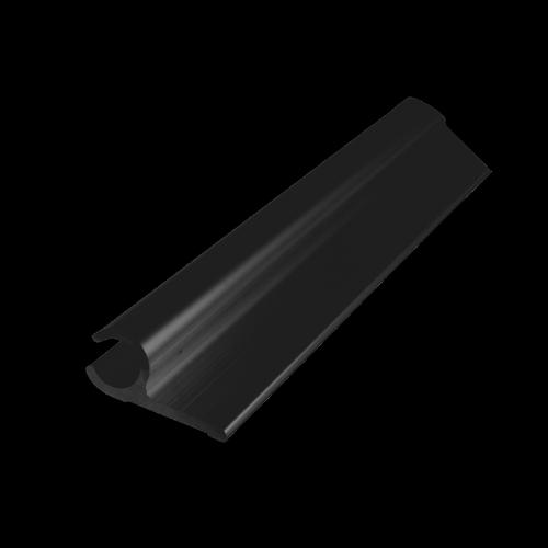 Metal Mate 27.95 x 12.7 x 1.7mm 1m Black Aluminium Section Sail Track