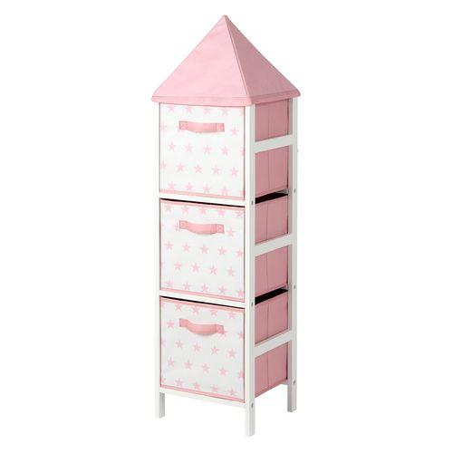 Flexi Storage Kids 120 x 32 x 28cm Pink Stars Storage Tower