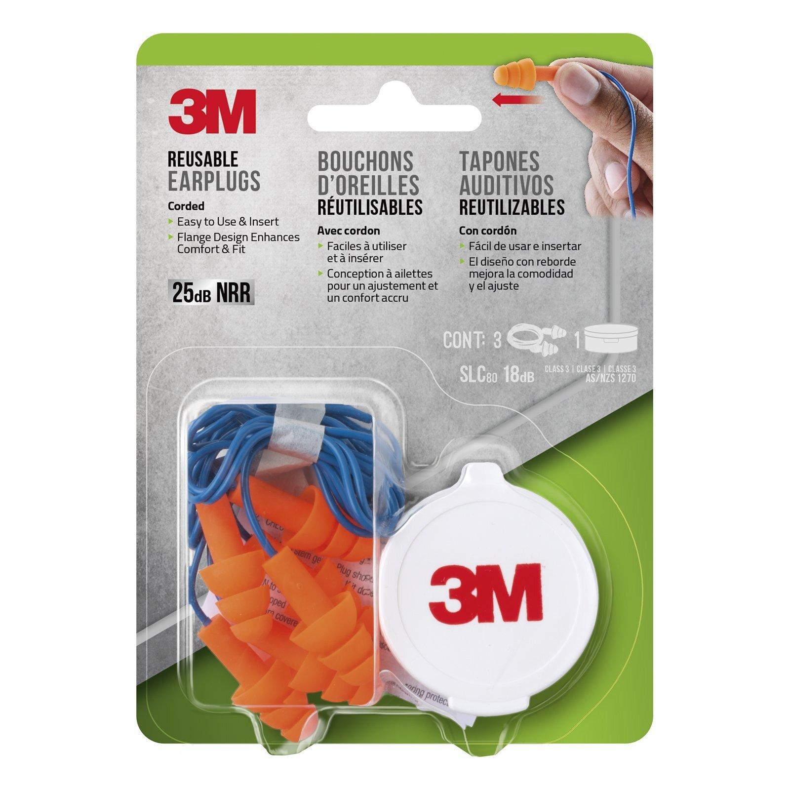 3M Lawn and Garden Reusable Ear Plugs Triple Flange
