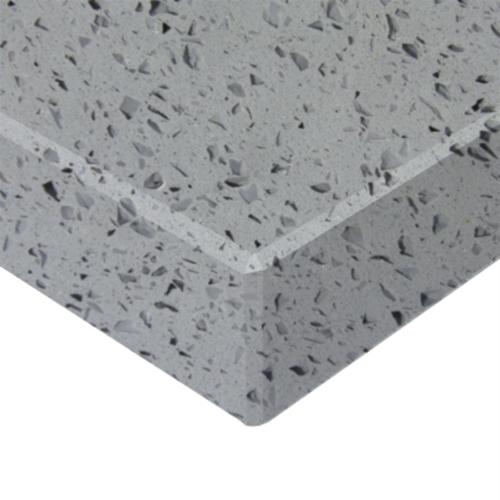 Essential Stone 40mm Round Savvy Stone Benchtop - Crystal Grey