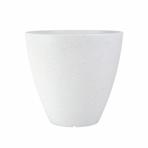 Northcote Pottery 37cm White Terrazzo Self Watering Pot