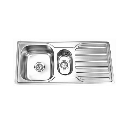 Picassi Perta-150s  1.5 Bowls Stainless Steel Sink with Drainer
