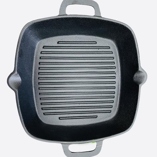 Cast Iron Square Grill Pan Steak Frying Gas Induction Cooker Wok