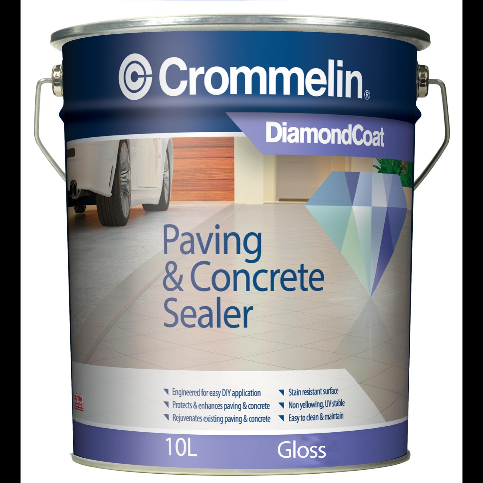 Crommelin 10L Gloss DiamondCoat Paving And Concrete Sealer