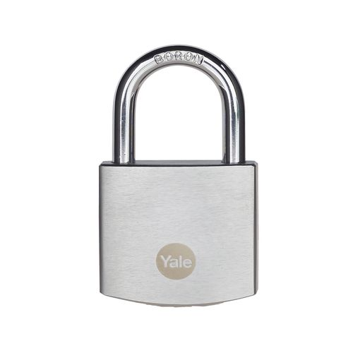Yale 40mm Chrome Finish Brass Padlock