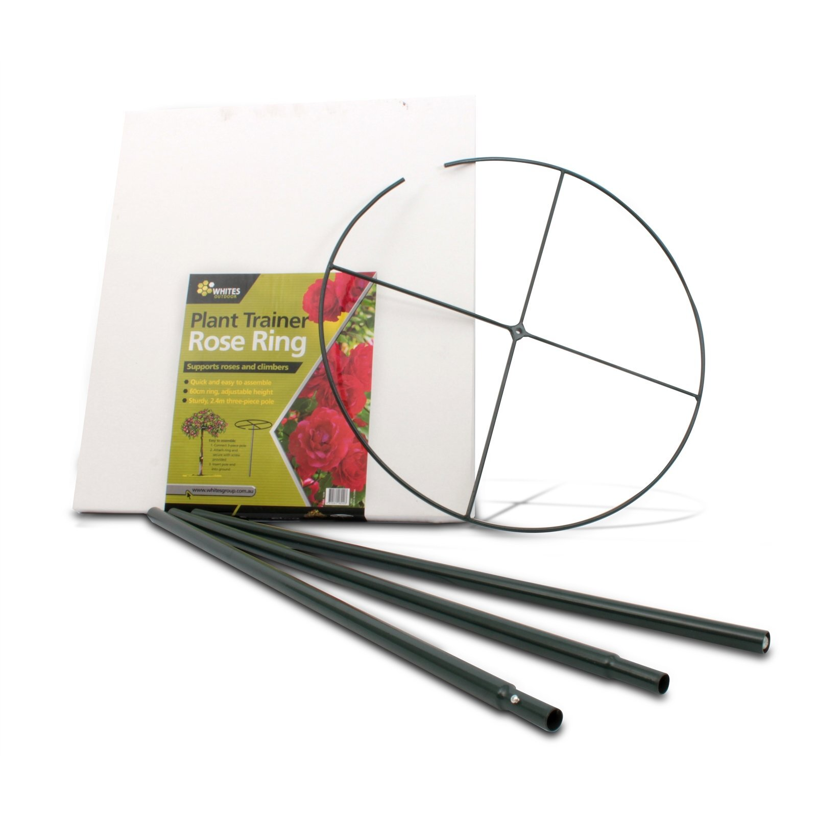 Whites 2400 x 600mm Green 4 Piece Rose Ring Plant Trainer