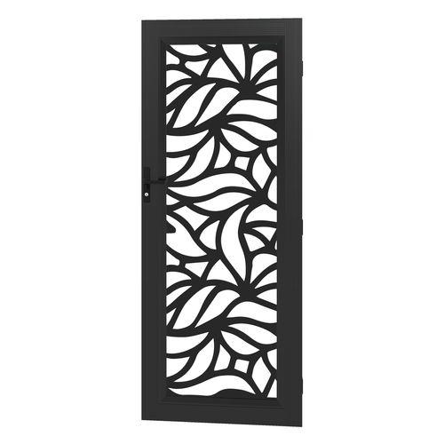 Protector Aluminium 813 x 2032mm Black Profile 15 Metric Deco Barrier Door