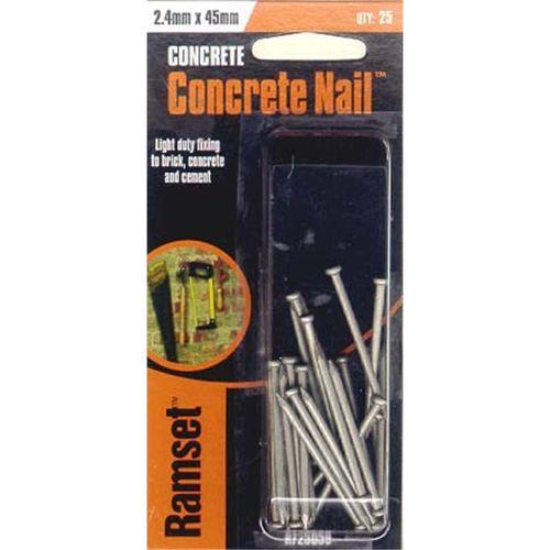 Ramset Concrete Nail 2.4 x 45mm 25pk