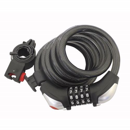 Syneco Bicycle combination Cable Lock With LED